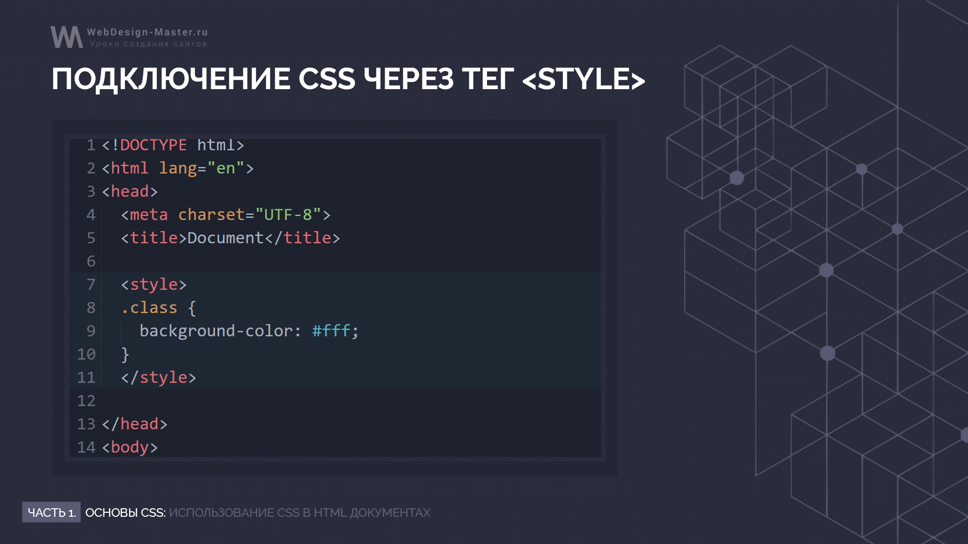 Подключение CSS через тег style