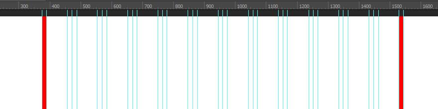 Крайние поля PSD сетки Bootstrap