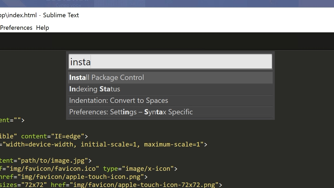 Установка Package Control в Sublime Text